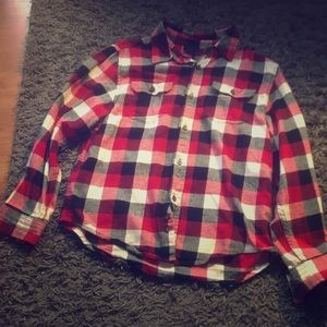 Red and black Faded Glory flannel, negotiable